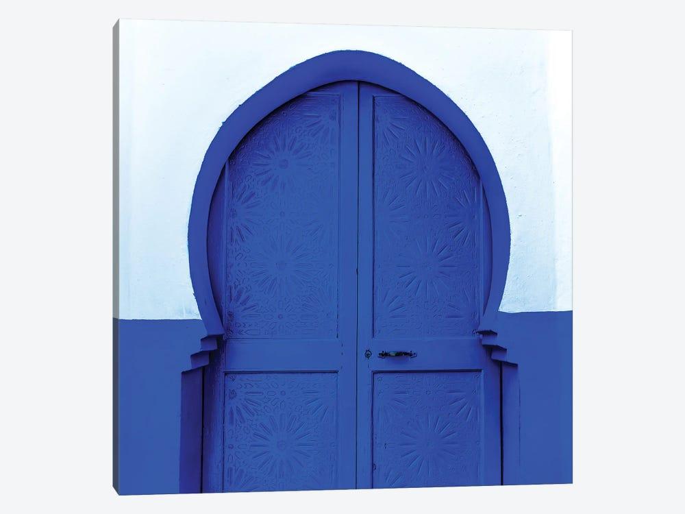 Blue White Door by Mark MacLaren Johnson 1-piece Canvas Artwork
