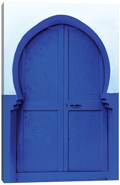 Blue White Canvas Art Print