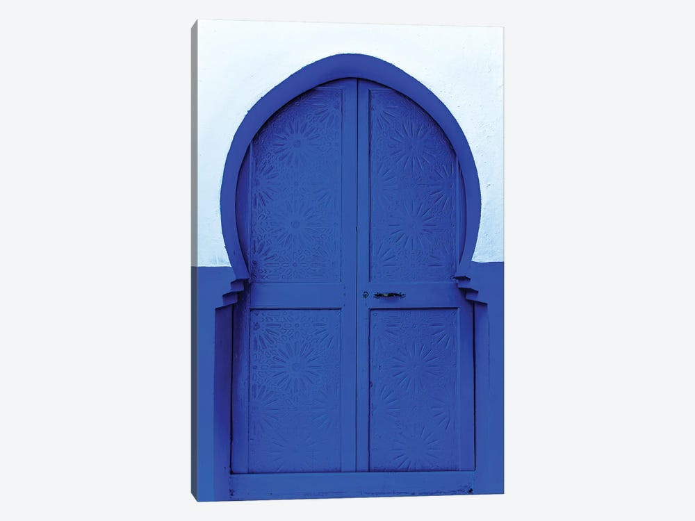 Blue White by Mark MacLaren Johnson 1-piece Canvas Print