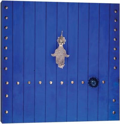 Blue Hand Door Canvas Art Print