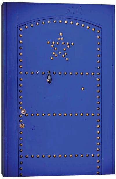 Blue Star Door Canvas Art Print