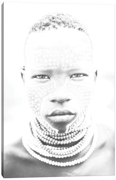Karo Face Black & White Canvas Art Print
