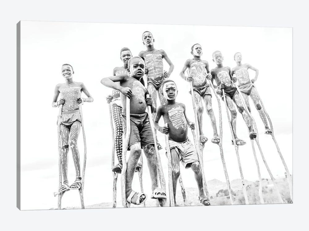 Stilt Crew by Mark MacLaren Johnson 1-piece Canvas Art Print
