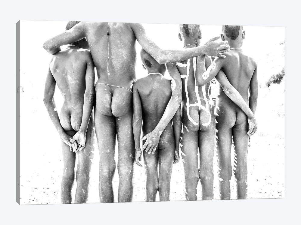 Mursi Boys by Mark MacLaren Johnson 1-piece Canvas Artwork