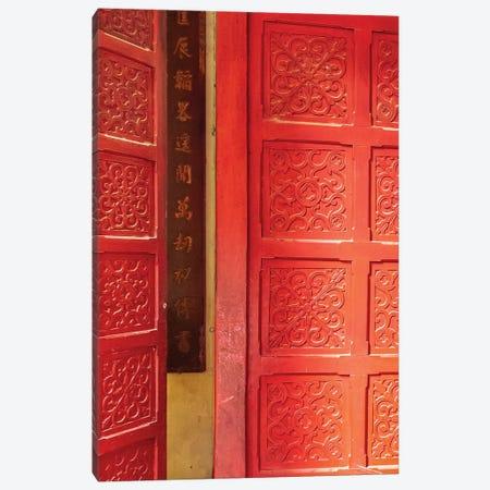 Hanoi Door Canvas Print #MMJ61} by Mark MacLaren Johnson Art Print