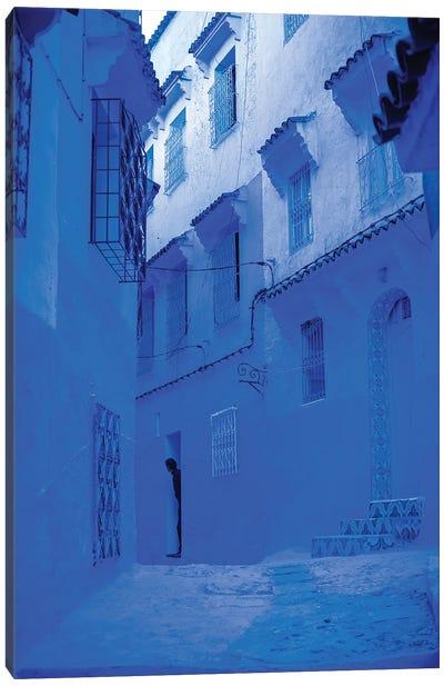 Blue Home Canvas Art Print