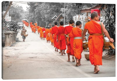 Monk Offering Canvas Art Print