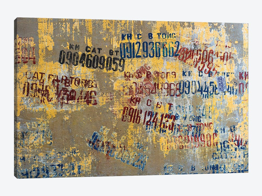 Hanoi Street Art by Mark MacLaren Johnson 1-piece Canvas Artwork