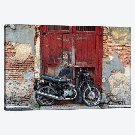 Motorbike Boy Canvas Print #MMJ9} by Mark MacLaren Johnson Canvas Print