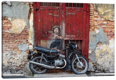 Motorbike Boy Canvas Art Print