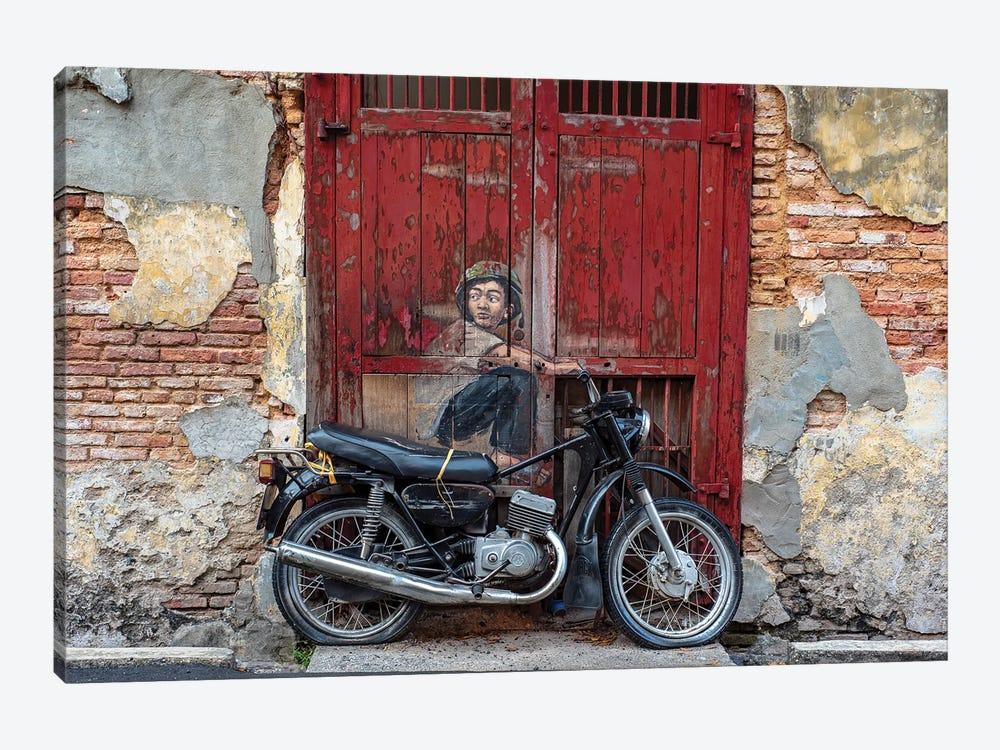 Motorbike Boy by Mark MacLaren Johnson 1-piece Canvas Artwork