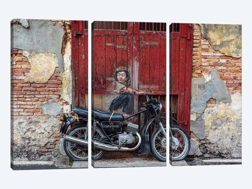 Motorbike Boy by Mark MacLaren Johnson 3-piece Canvas Art