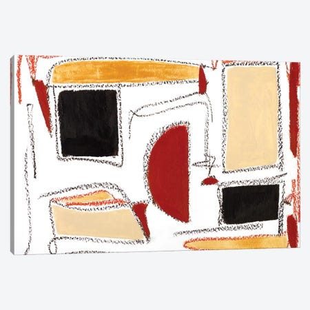 Retro Canvas Print #MMK39} by Monika Mickute Art Print