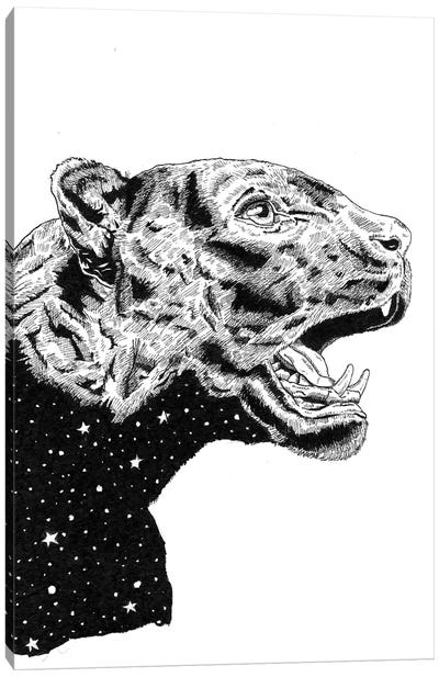 Panther Space Canvas Art Print