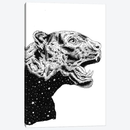 Panther Space Canvas Print #MML10} by Mister Merlinn Canvas Artwork