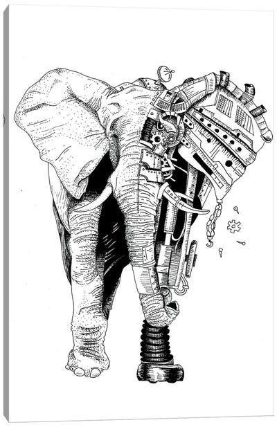 Robot Elephant Canvas Art Print