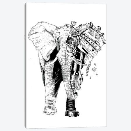 Robot Elephant Canvas Print #MML12} by Mister Merlinn Canvas Art