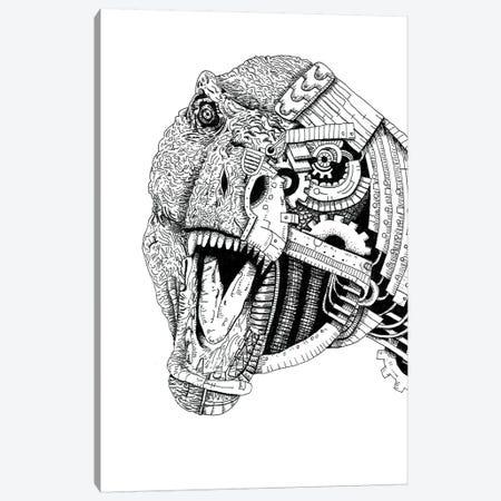Robot Trex Canvas Print #MML13} by Mister Merlinn Canvas Artwork