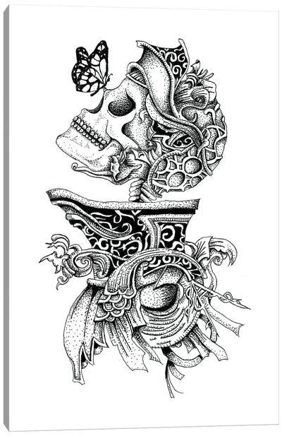 Skeleton Knight Canvas Art Print