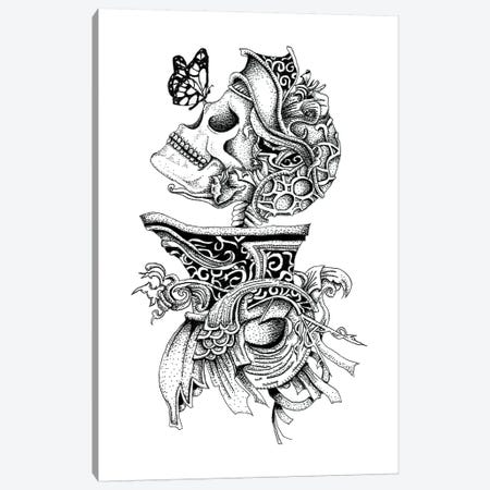 Skeleton Knight Canvas Print #MML14} by Mister Merlinn Art Print