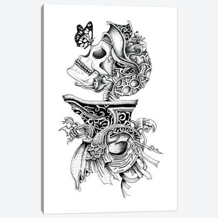 Skeleton Knight Canvas Print #MML14} by Mister Merlinn Art Print