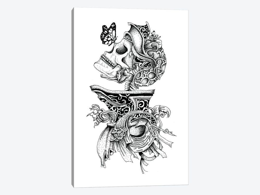 Skeleton Knight by Mister Merlinn 1-piece Canvas Print