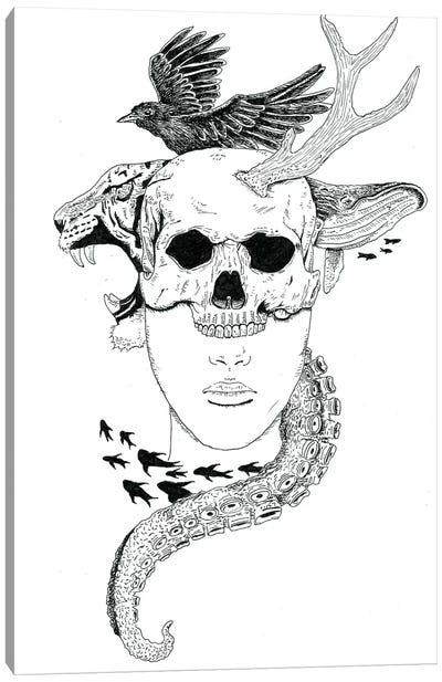 Skull Head Canvas Art Print