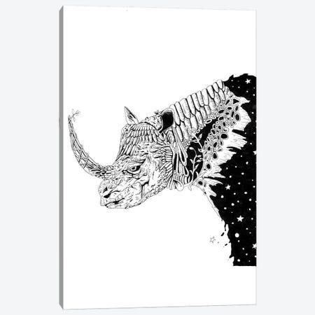 Star Rhino Canvas Print #MML16} by Mister Merlinn Canvas Print