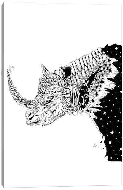 Star Rhino Canvas Art Print