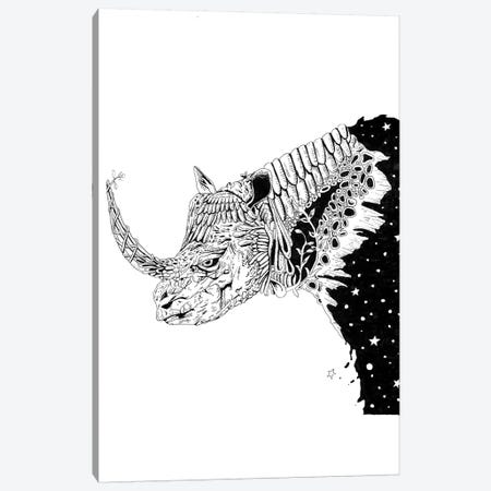 Star Rhino Canvas Print #MML16} by Mister Merlinn Canvas Print