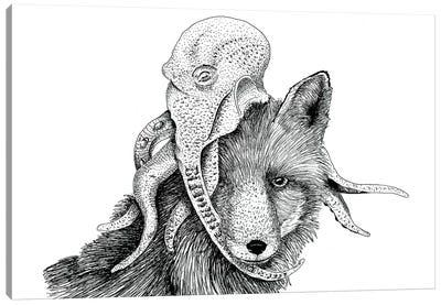 Wolf + Octopus Canvas Art Print