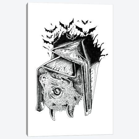 Bat & Bats Canvas Print #MML2} by Mister Merlinn Canvas Art Print