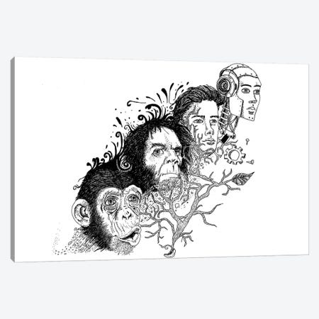 Evolution Canvas Print #MML6} by Mister Merlinn Canvas Art