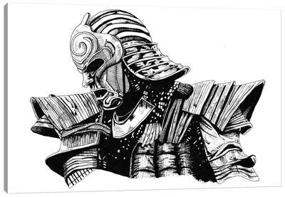 Mister Samurai Canvas Art Print