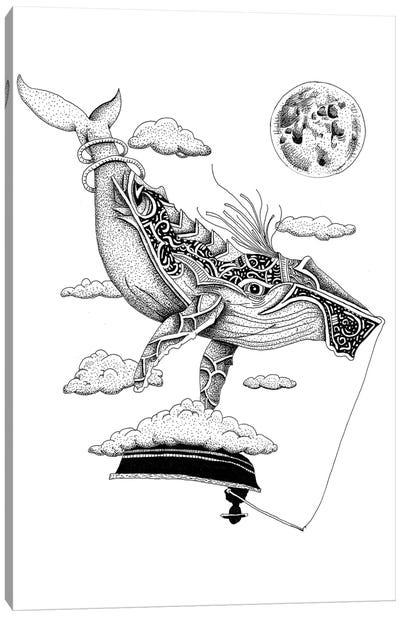 Night Whale Canvas Art Print