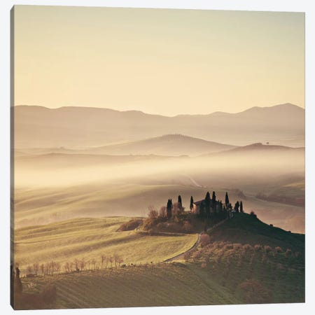 Tuscan Sunrise Canvas Print #MMO4} by Margaret Morrissey Canvas Print