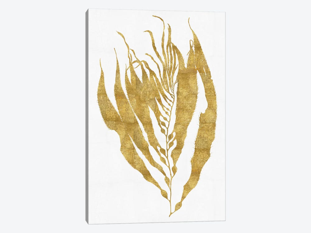Gold On White I by Melonie Miller 1-piece Canvas Art
