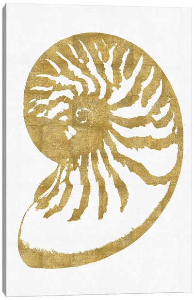 Sea Life Series: Gold On White III Canvas Print #MMR17