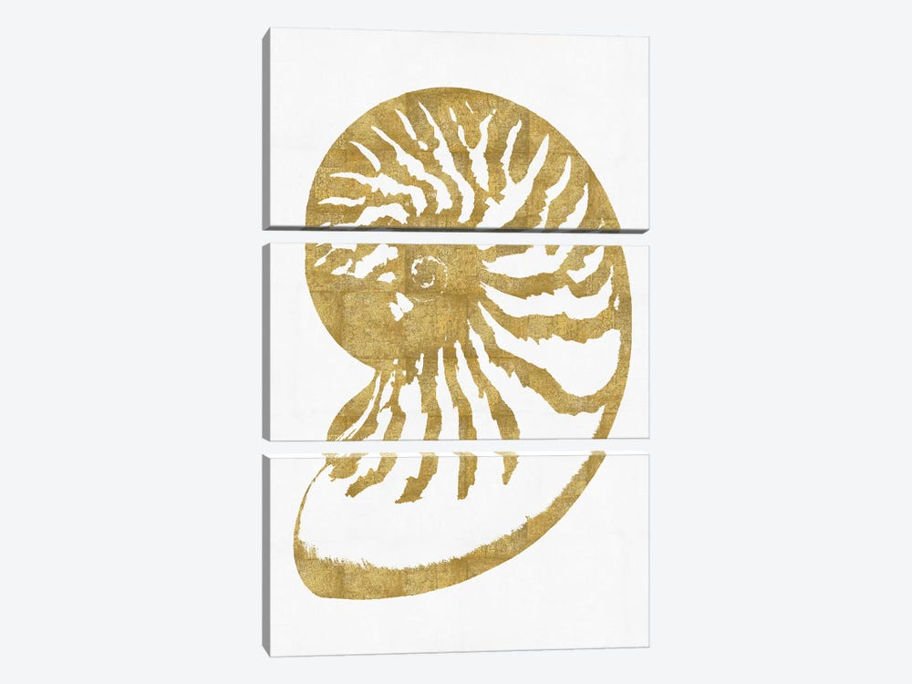 Gold On White III by Melonie Miller 3-piece Canvas Artwork
