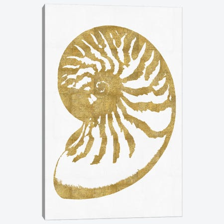 Gold On White III Canvas Print #MMR17} by Melonie Miller Canvas Art Print