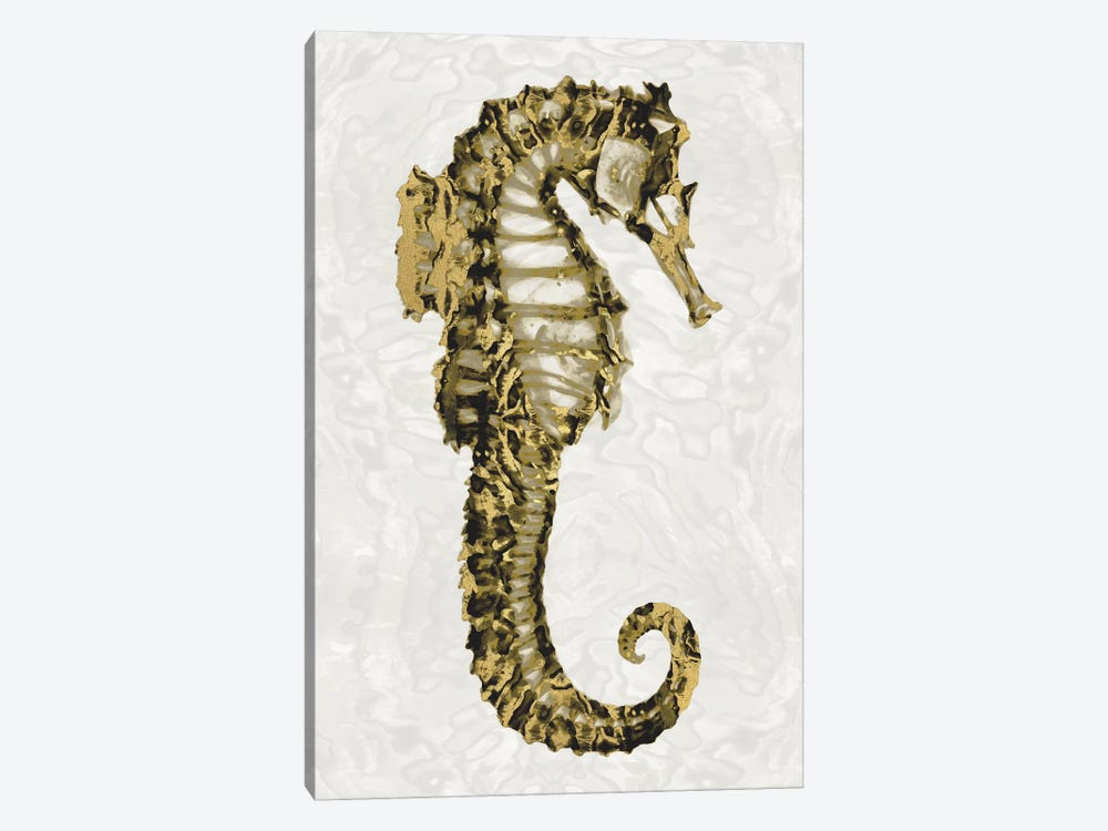 Golden Sea Horse II by Melonie Miller 1-piece Canvas Art Print