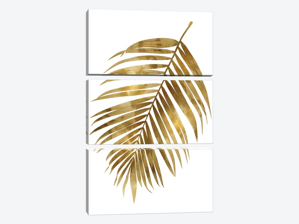 Gold Palm I by Melonie Miller 3-piece Canvas Wall Art