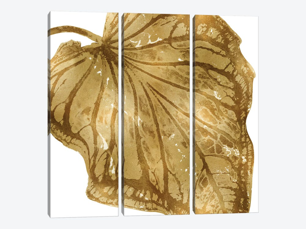 Gold Palm, Close-Up III by Melonie Miller 3-piece Canvas Art