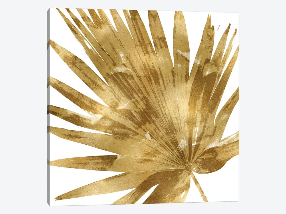 Gold Palm, Close-Up IV by Melonie Miller 1-piece Canvas Artwork