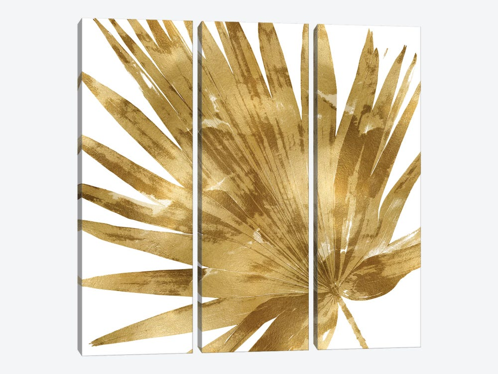 Gold Palm, Close-Up IV by Melonie Miller 3-piece Canvas Wall Art