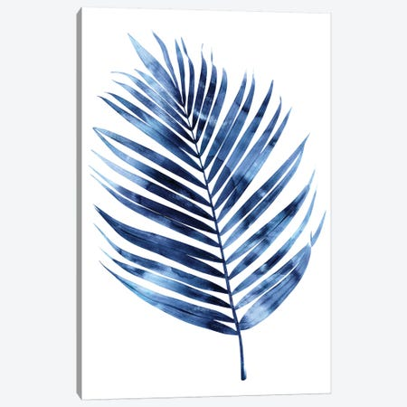 Indigo Palm I Canvas Print #MMR49} by Melonie Miller Canvas Art Print