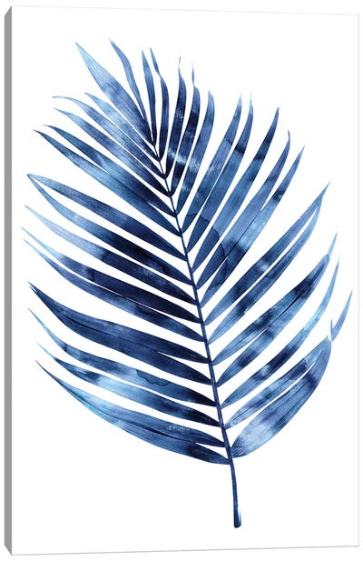 Indigo Palm I Canvas Art Print