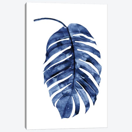 Indigo Palm II Canvas Print #MMR50} by Melonie Miller Canvas Art