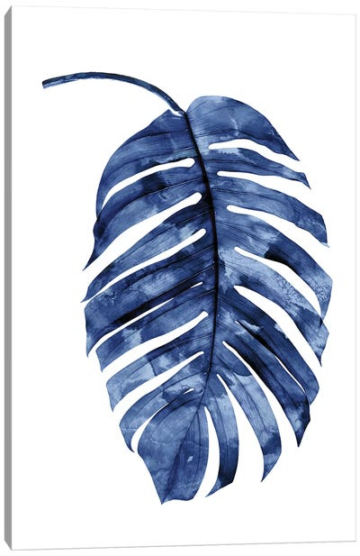Indigo Palm II Canvas Art Print