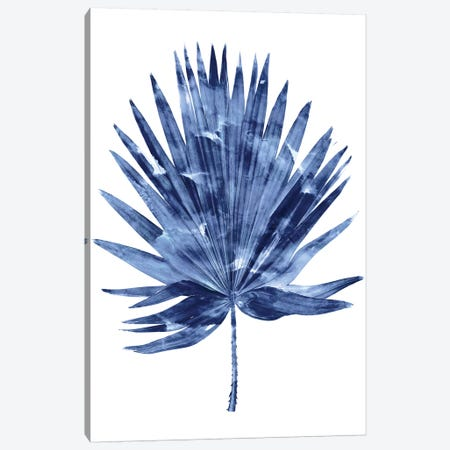 Indigo Palm IV Canvas Print #MMR52} by Melonie Miller Canvas Art